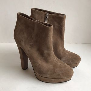 BCBGeneation suede leather heeled boots Sz 9